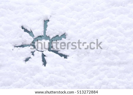 Snow Background Texture Wet Snow Sun Stock Photo Royalty Free