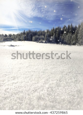 snow background, winter background, winter wonderland - stock photo