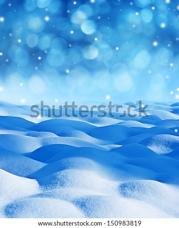 snow background with empty space - stock photo