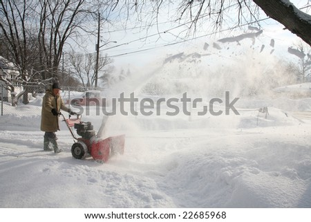 snow blowing canada