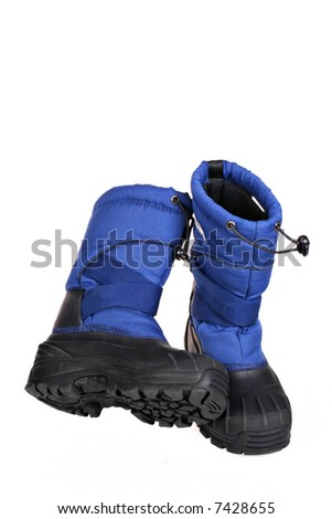 Snow Boots on Isolated Background