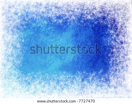 Snow canvas Christmas background - stock photo