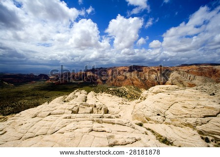 Snow Canyon in St. George, Utah - Sandstones - stock photo