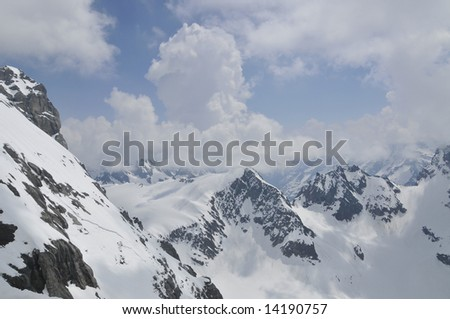 Snow caped Alps