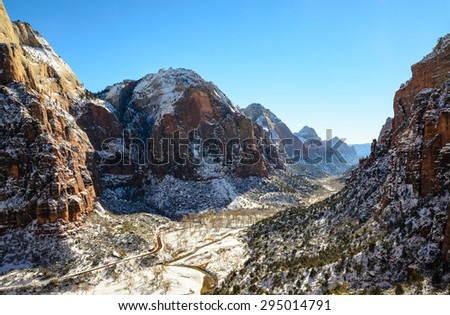 Snow Capped Mountains at Colorado Plateau Province - stock photo