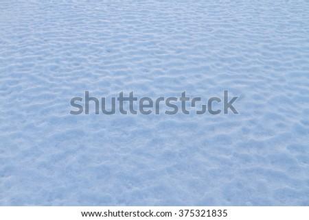 snow carpet on the  sunset white snow  - stock photo