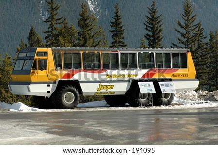 Snow coach - stock photo