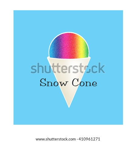 Snow Cone - stock photo