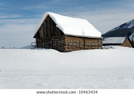 Snow covered building