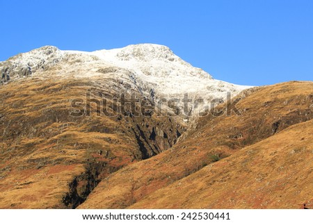 Snow covered mountain - stock photo
