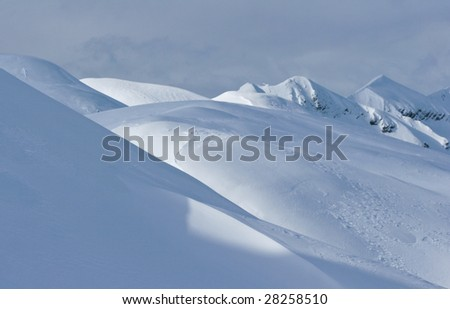 Snow covered mountain in alps