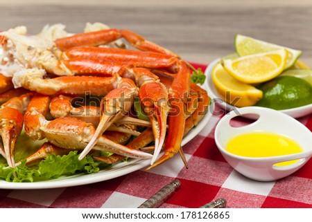 Snow Crab Legs - stock photo