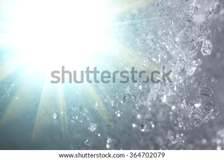 snow crystals abstraction background - stock photo