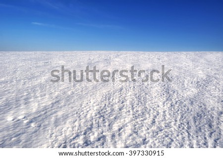 snow field - stock photo