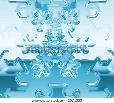 snow flake background - stock photo