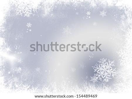Snow flake christmas background  - stock photo