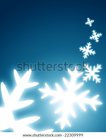 snow flakes on a dark blue background