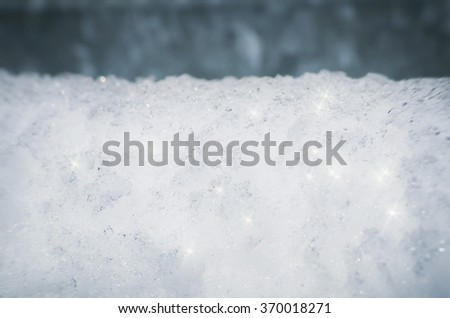 Snow Framed Background, Copyspace - stock photo