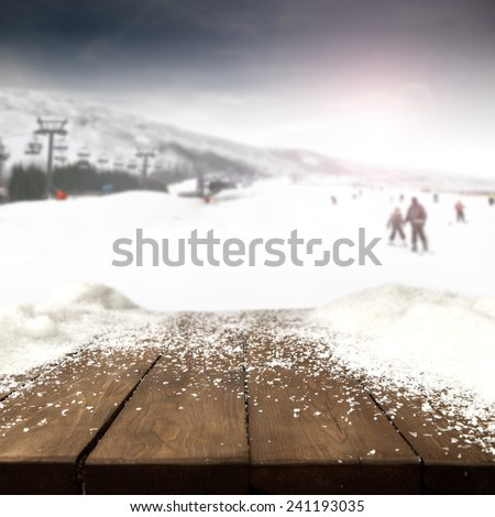snow frost and skis time  - stock photo