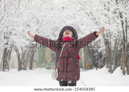 Snow Game - stock photo