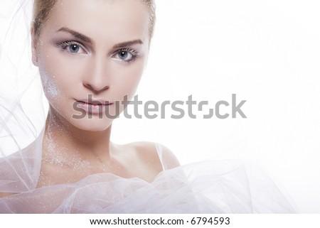snow girl - stock photo