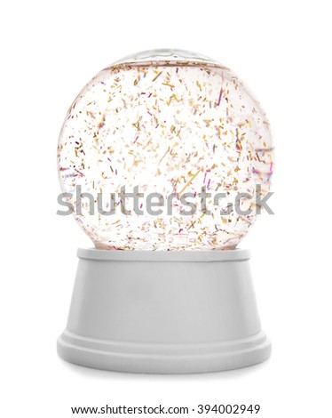 Snow globe isolated on white