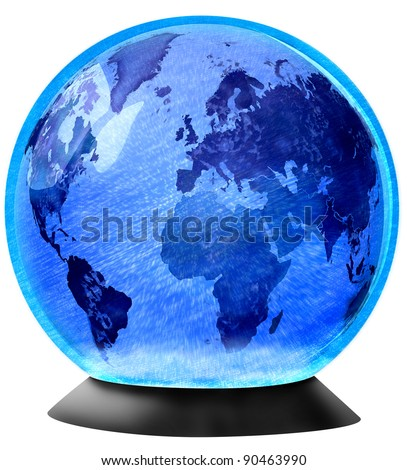 Snow Globe with Planet Earth in the center.