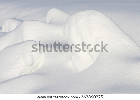 Snow hill background - stock photo