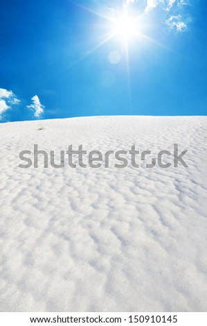 Snow hill. Composition of nature. - stock photo