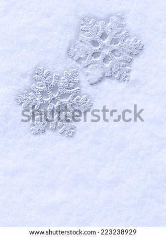 Snow holiday background with snowflakes.