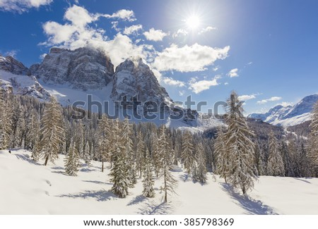 Snow in the high mountains, Dolomites