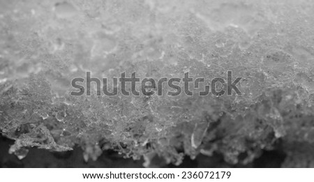 snow macro - stock photo