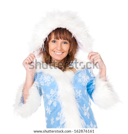 Snow Maiden on a white background