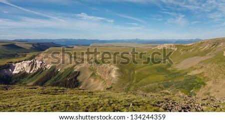 Snow Mesa, Rocky Mountains, Colorado, USA - stock photo