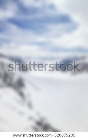 snow mountain blurred - stock photo