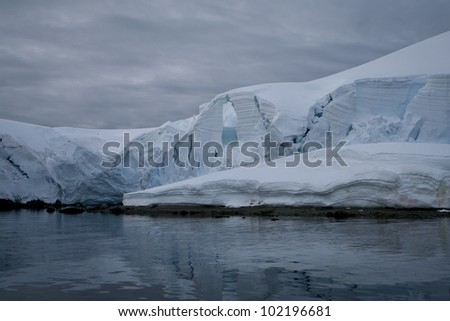 Snow mountain in Antarctica