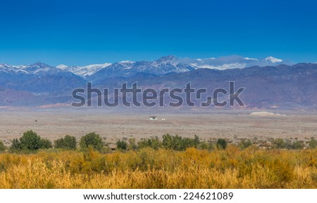 snow mountain in central Asia - stock photo