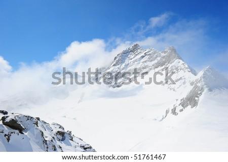 snow mountain, Switzerland - stock photo