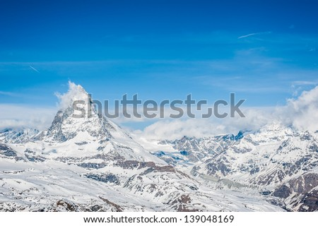 Snow Mountain View of Matterhorn