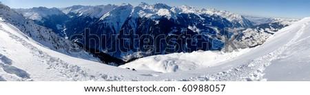 Snow panorama - stock photo