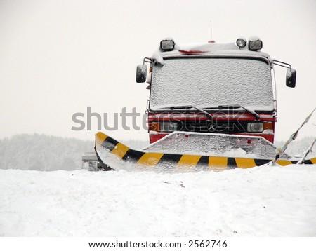 Snow plow - stock photo