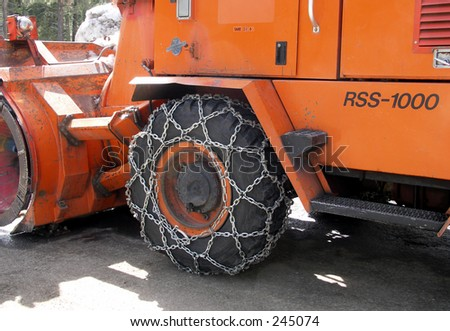 Snow Plow Tire with Chain