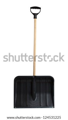 Snow shovel, isolated, clipping path include