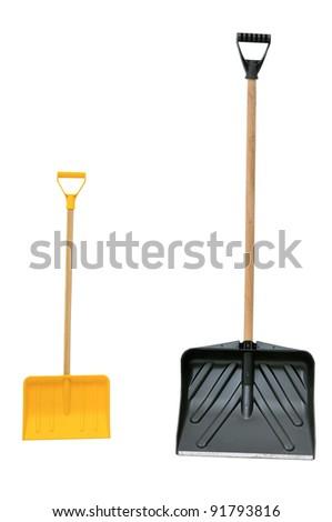 snow shovels - stock photo