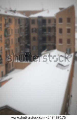 Snow storm. Intentionally blurred post production background.