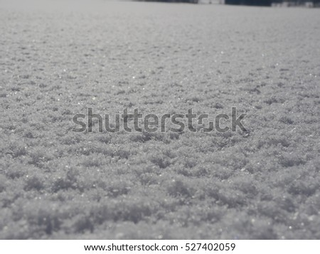 Snow surface winter
