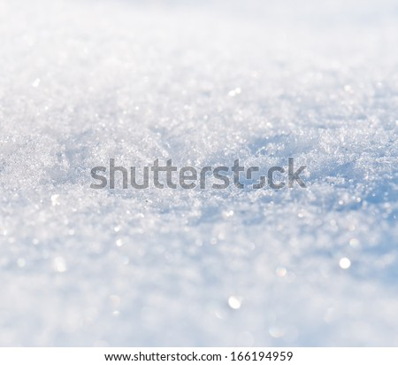 snow texture in the photo - stock photo