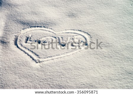 snow texture, sign