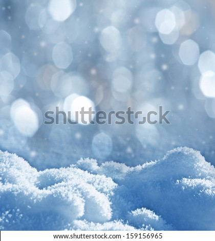 snow - textured background with empty space for text - stock photo