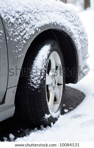 snow tire - stock photo